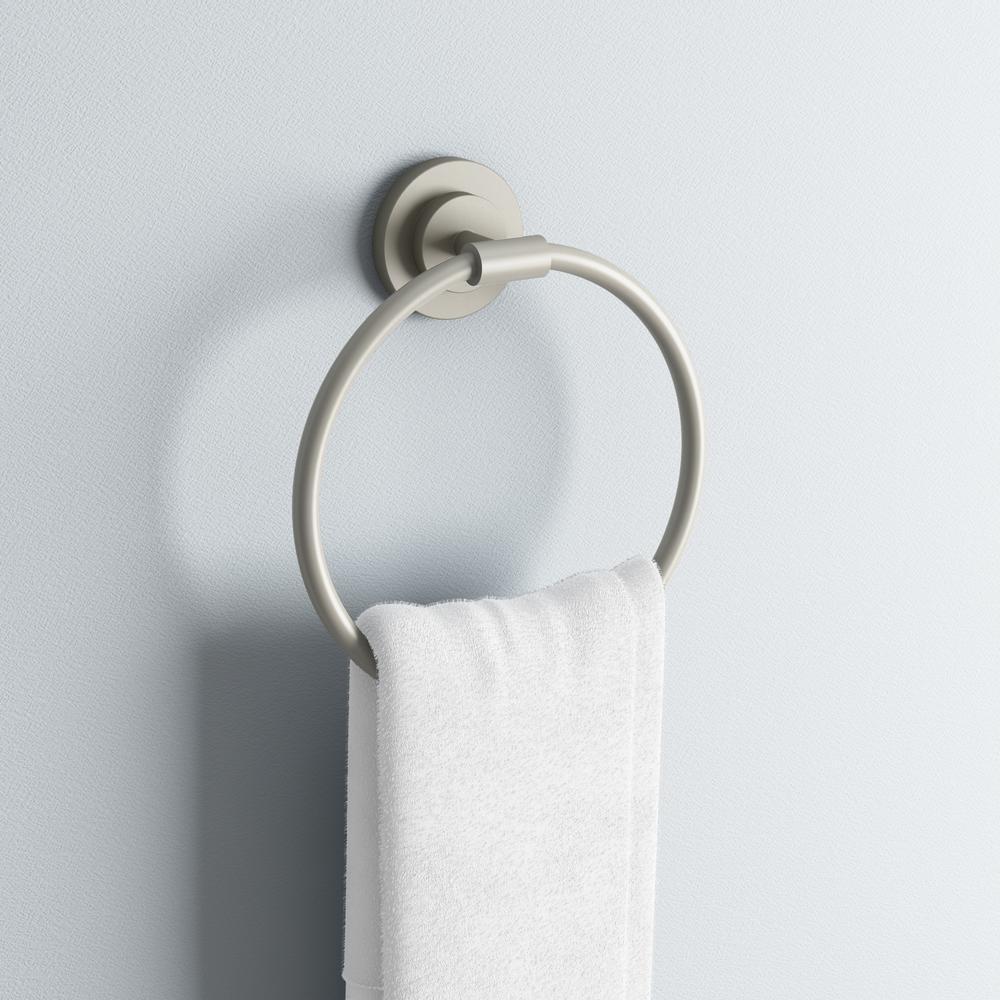 ISO Towel Ring in Spot Resist Brushed Nickel