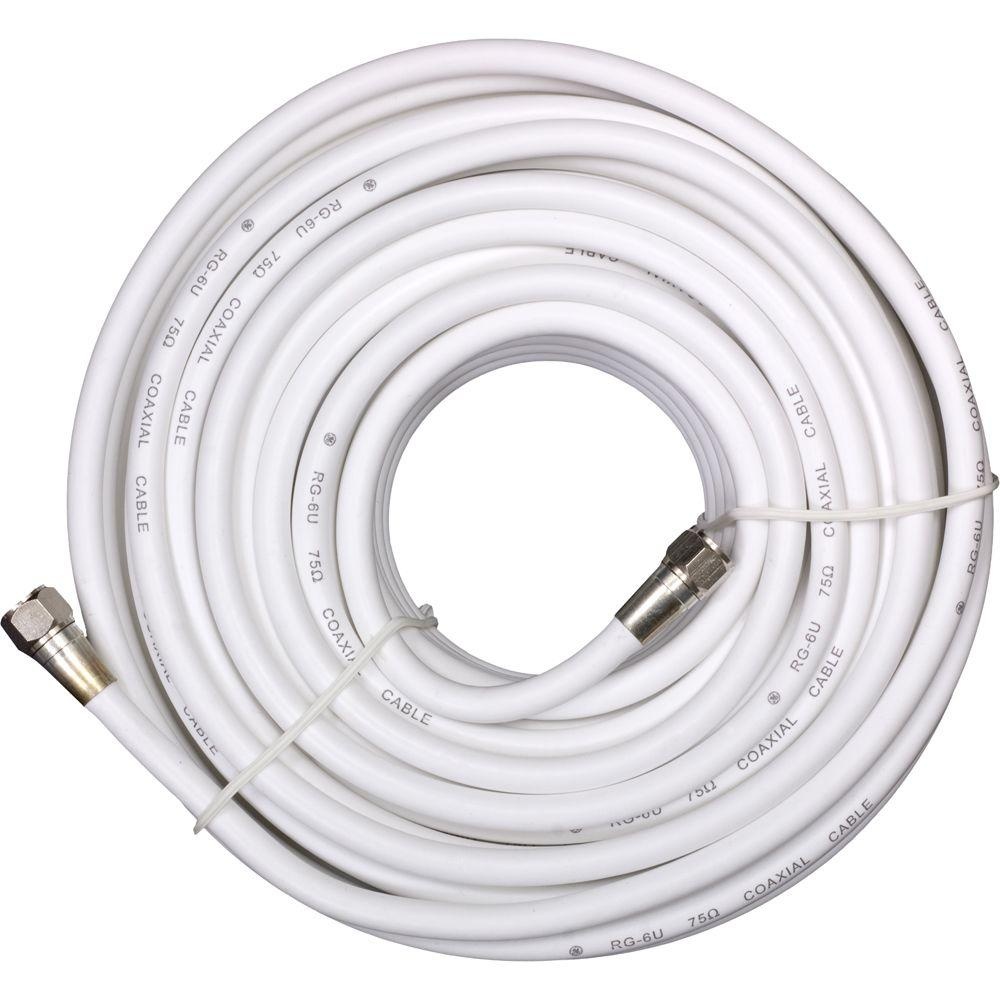 GE 50 ft. White RG-6 Coaxial Cable