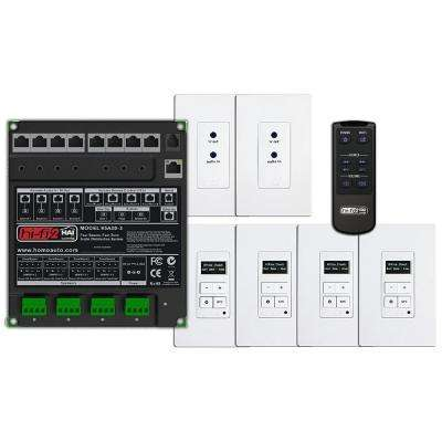 Hi-Fi 2 4-Zone, 4 Source Distributed Audio System in Enclosure