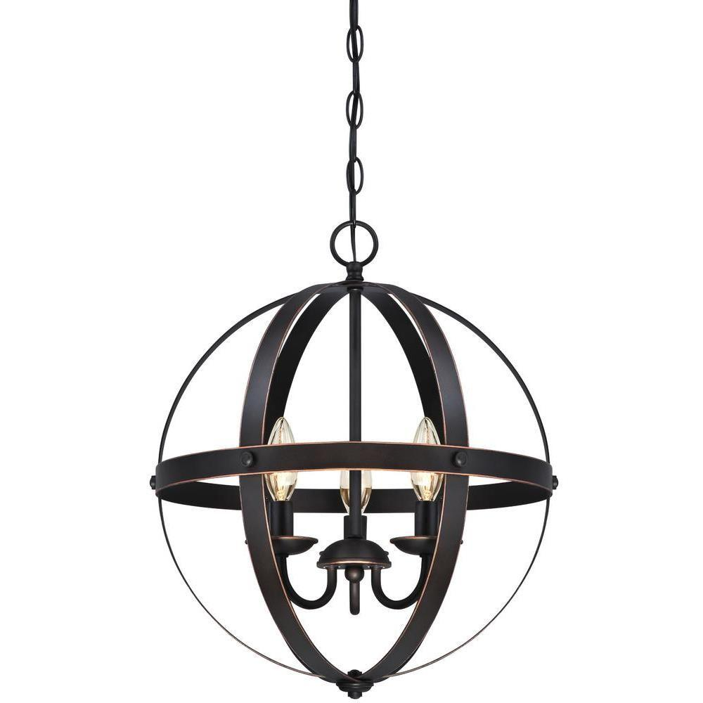 Westinghouse Stella Mira 3-Light Oil-Rubbed Bronze with Highlights Pendant