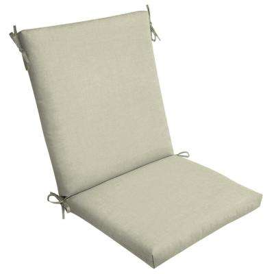 New Tan Leala Texture Outdoor High Back Dining Chair Cushion