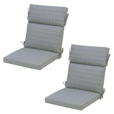 cement texture deluxe outdoor dining chair cushion 2pack