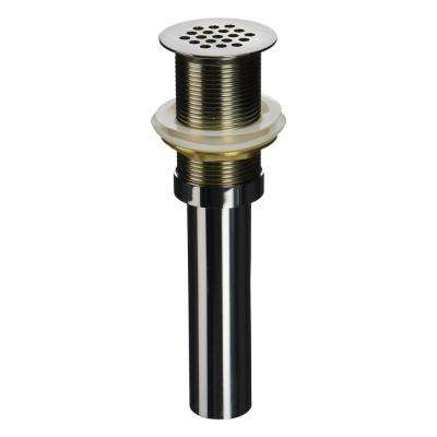 8.4 in. x 2.7 in. Grid Drain with 6 in. Tail Piece in Brushed Nickel