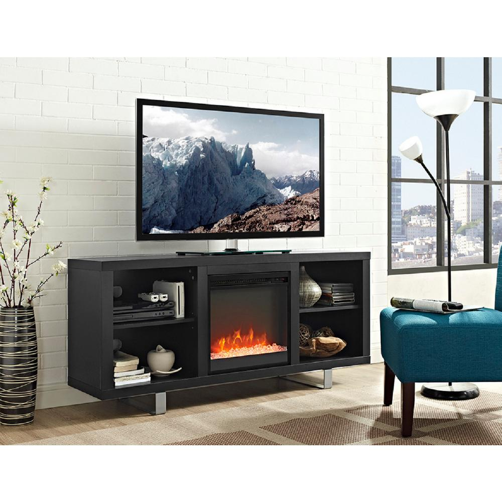 family 303398165 58 in simple modern fireplace tv console in
