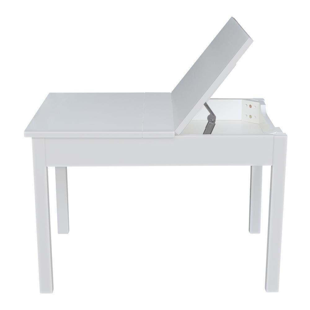 International Concepts White Kids Storage Table