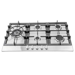 Cosmo 34 inch Gas Cooktop in Stainless Steel with 5 Sealed Brass Burners including 16000 BTU Jet Nozzle Burner by Cosmo