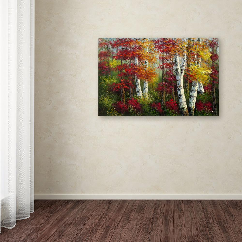 22 in. x 32 in. ''Indian Summer'' by Rio Printed Canvas Wall Art
