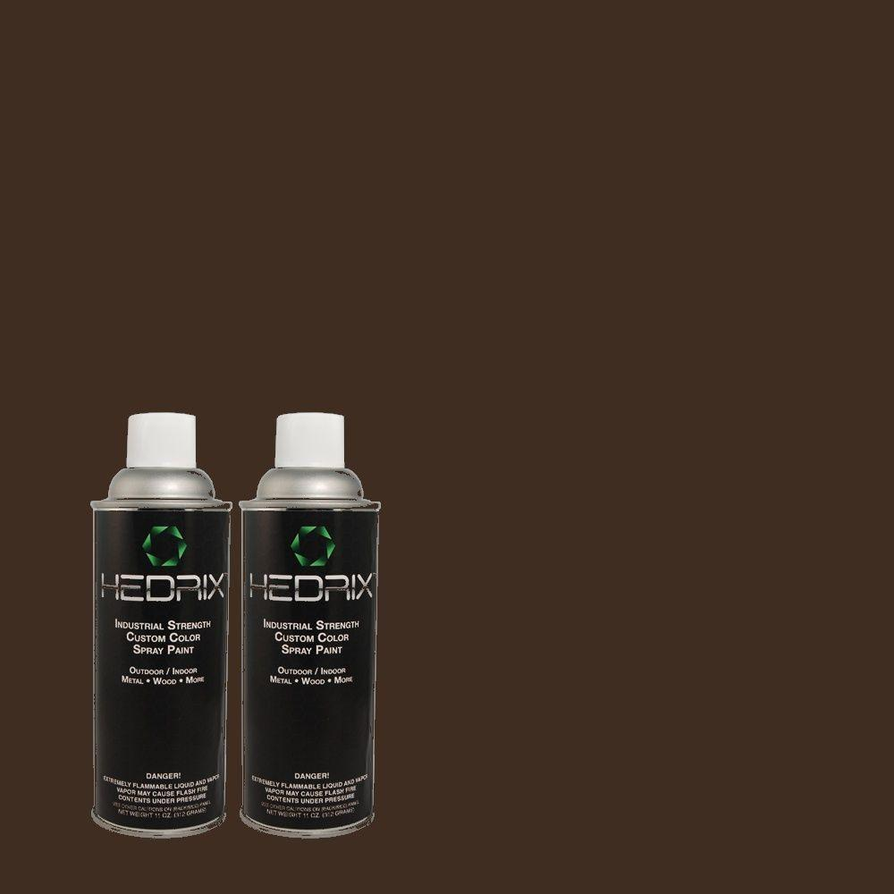 Hedrix 11 oz. Match of ECC-27-3 Evening Canyon Low Lustre Custom Spray Paint (2-Pack)