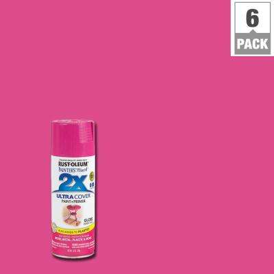 12 oz. Berry Pink Gloss General Purpose Spray Paint (6-Pack)