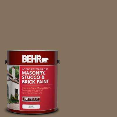 1 gal. #BXC-05 Mudslide Flat Interior/Exterior Masonry, Stucco and Brick Paint