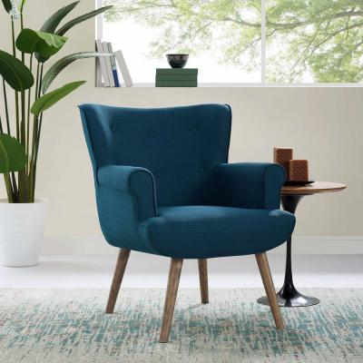 Cloud Azure Upholstered Armchair