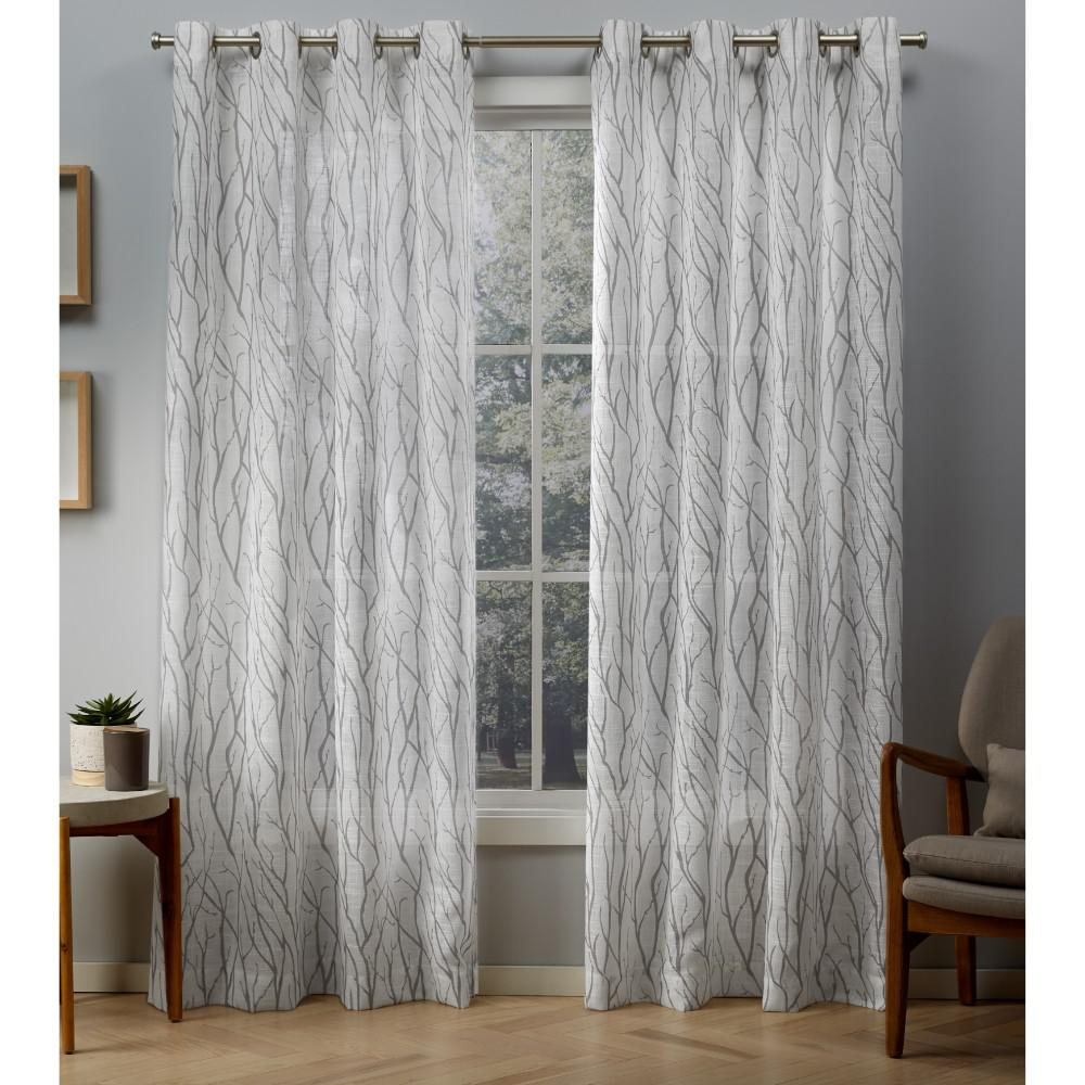 Exclusive Home Curtains Oakdale 54 In. W X 108 In. L Sheer