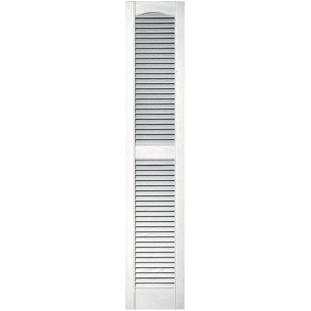 Exterior Shutters: Builders Edge 12 In. X 60 In. Louvered Vinyl Exterior