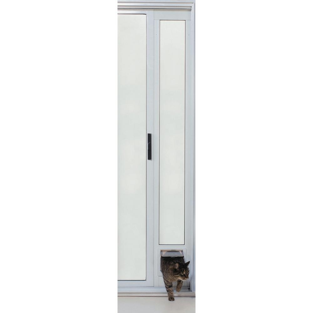 Small White Cat Flap Pet Patio Door