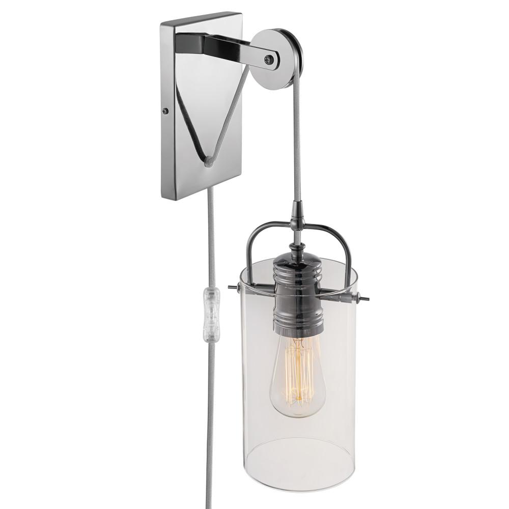 Globe Electric Nordhaven 1-Light Chrome Wall Sconce