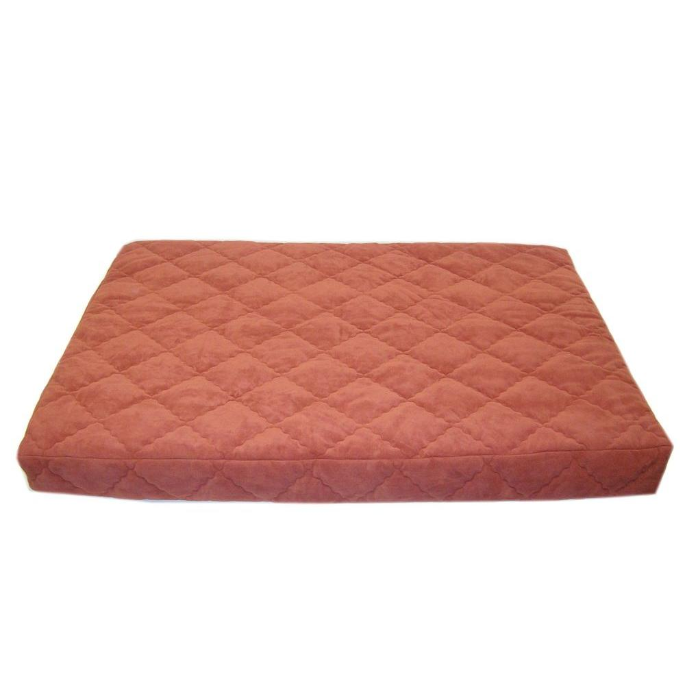 Medium Protector Pad Quilted Orthopedic Jamison Pet Bed - Earth Red