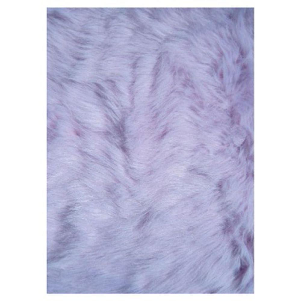 Flokati Lavender 3 ft. x 5 ft. Area Rug