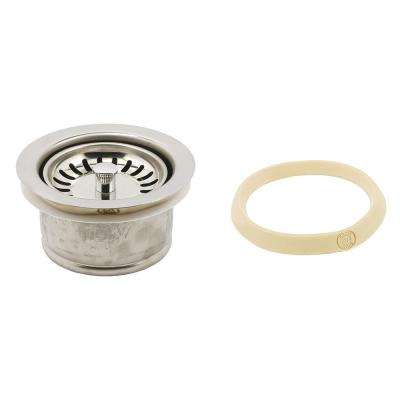 Garbage Disposal Flange Deep with Strainer Basket 3-1/2 in. Chrome with Putty