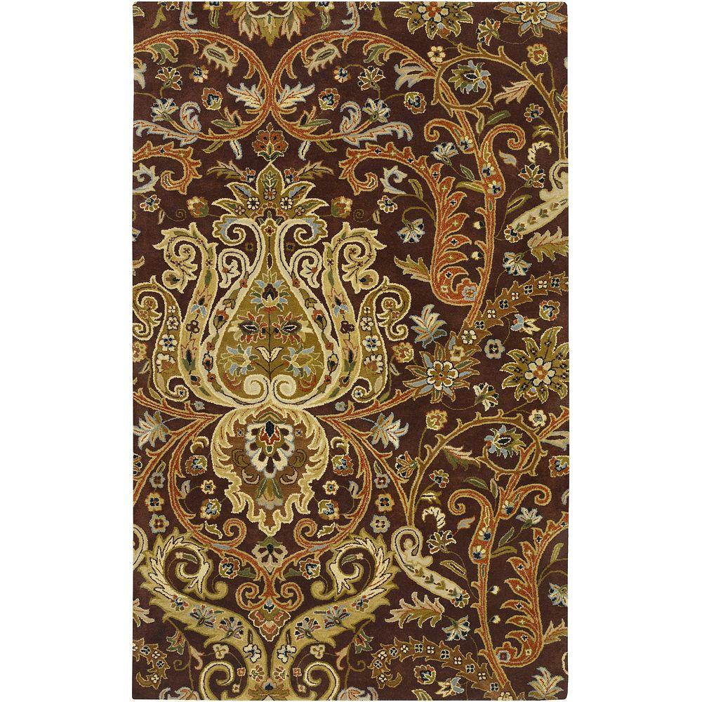 Bassett Chocolate 2 ft. x 3 ft. Area Rug