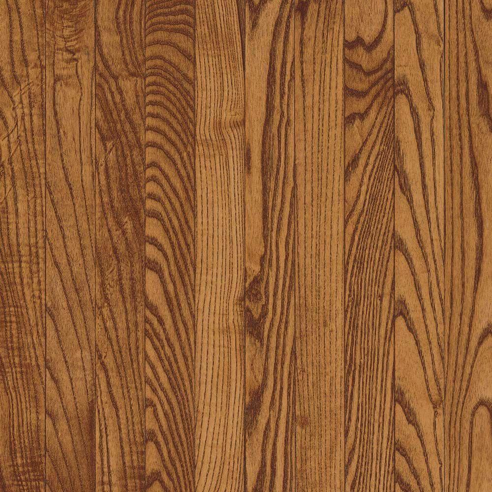 Bruce Take Home Sample Gunstock Oak Solid Hardwood Flooring 5 In X 7