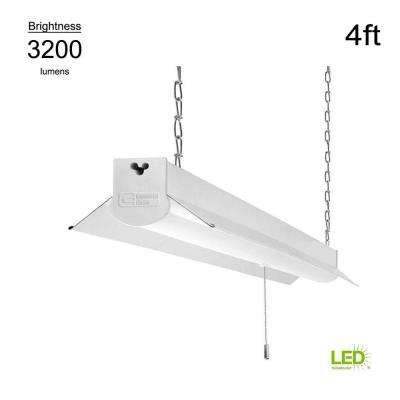 4000K 4 ft. White Integrated LED Linkable Shop Light (with 5 ft. linking cord)