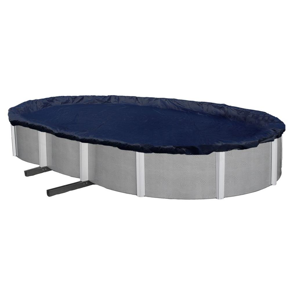 Blue Wave 8-Year 21 ft. x 41 ft. Oval Navy Blue Above Ground Winter Pool Cover