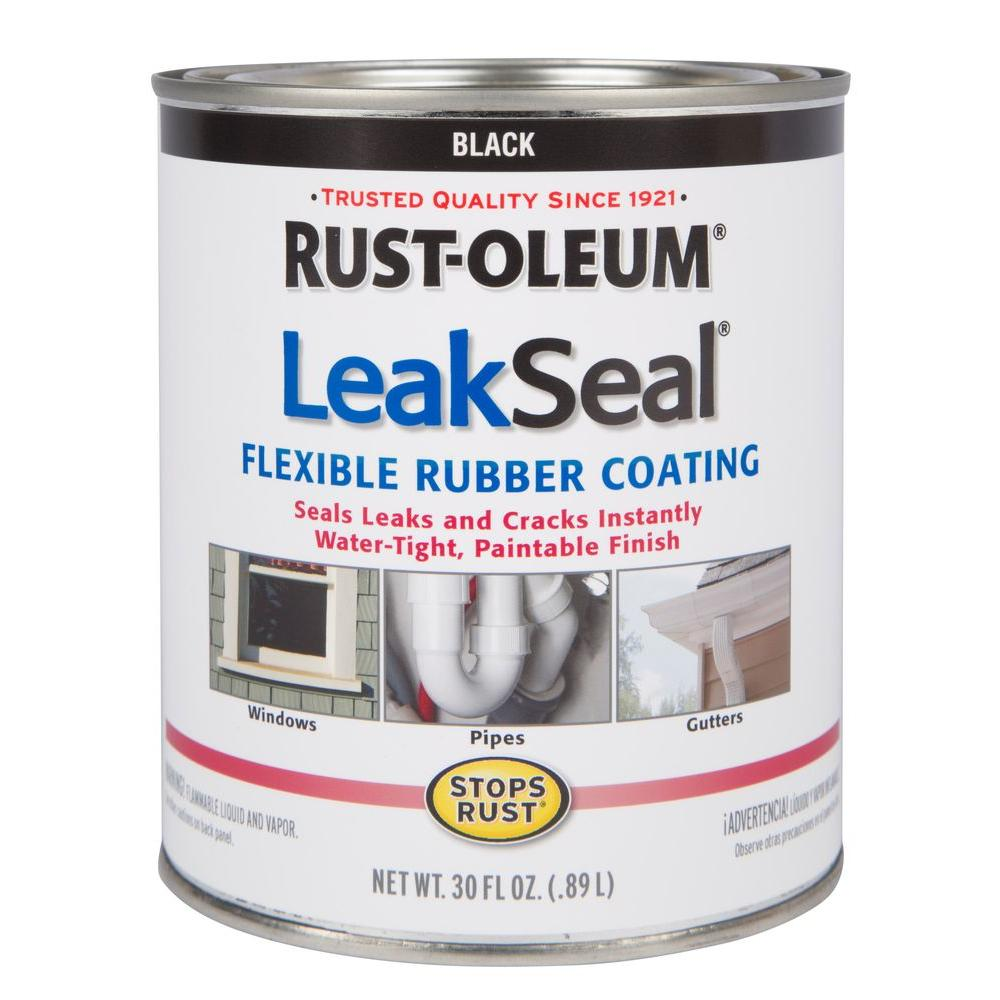 1 qt. LeakSeal Black Flexible Rubber Coating Sealer