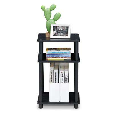 Just 3-Tier Americano/Black No Tools Tube End Table
