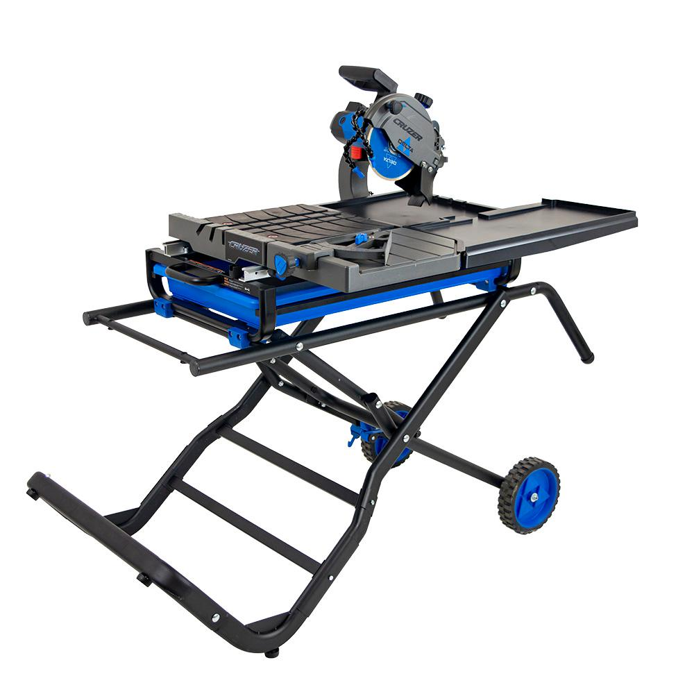 Delta Cruzer 7 inch Wet Tile Saw with Folding Portable Stand