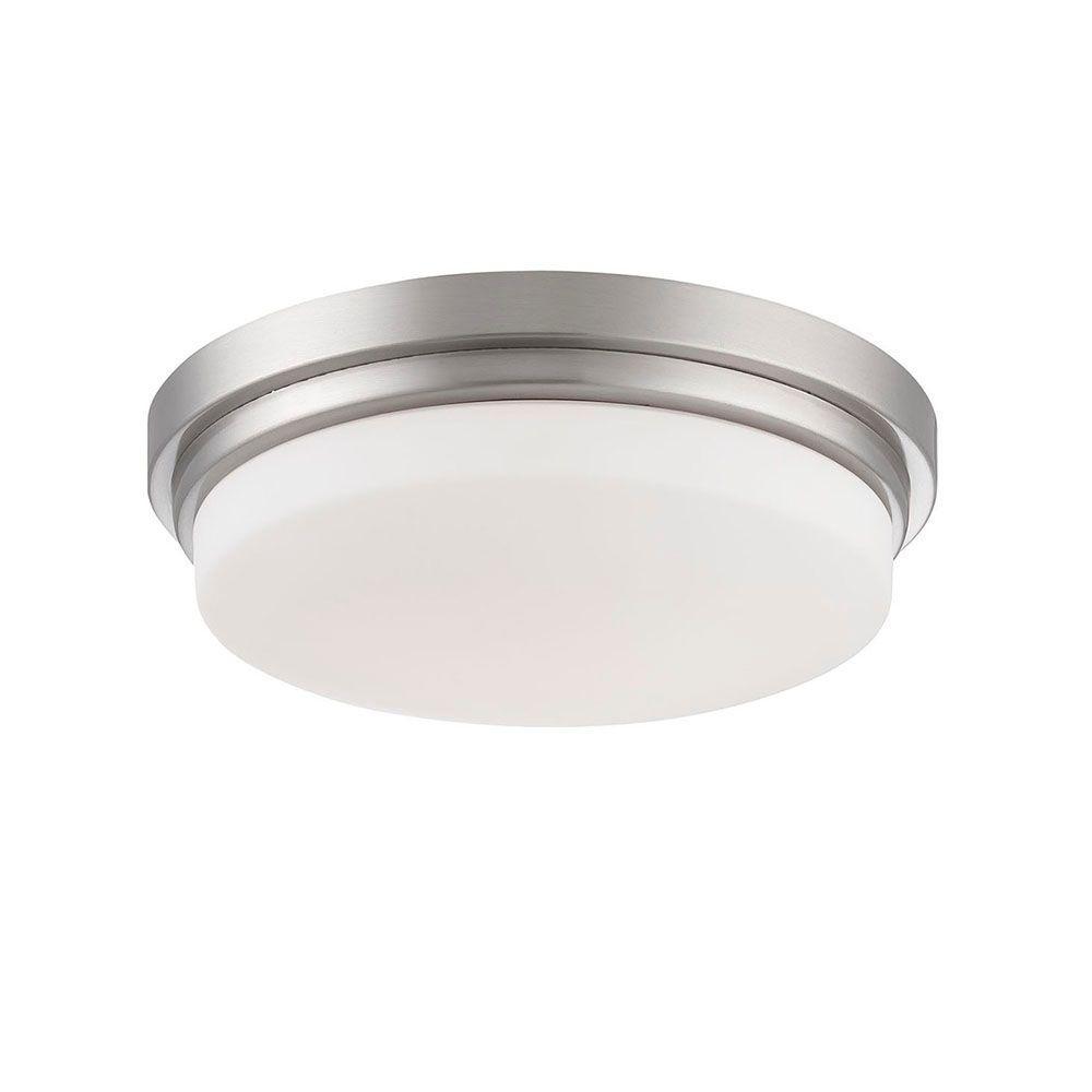 Wilson Collection 1-Light Satin Nickel LED Flushmount