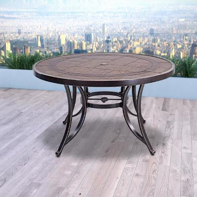 Black Gold Metal Bar Table with Extension