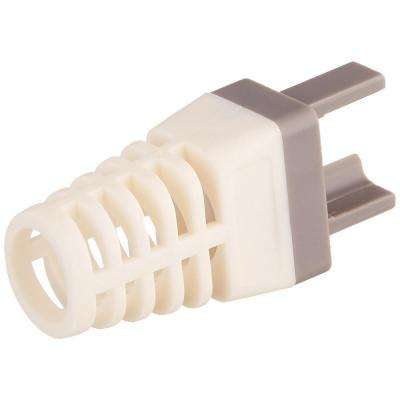 Strain Reliefs for EZ-RJ45 Cat 6+ Connector Clamshell in Gray (50 per Clamshell)