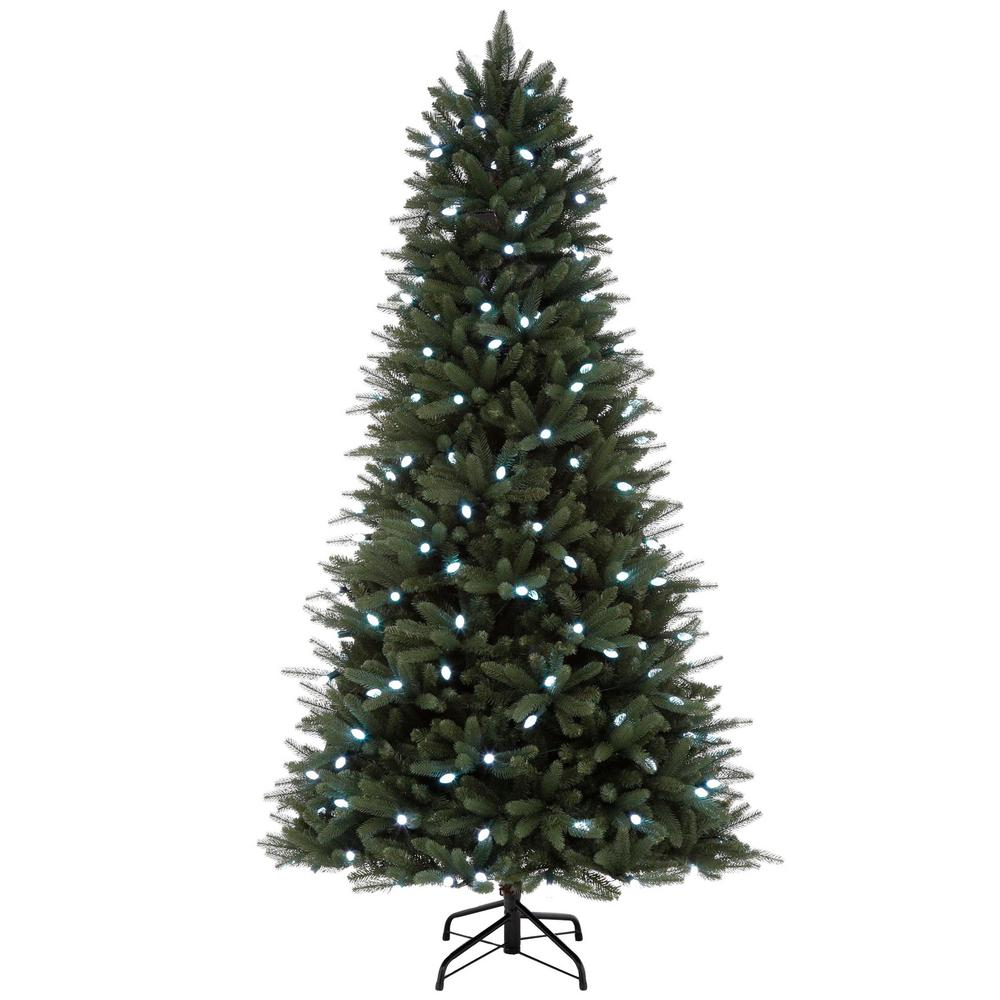 Artificial Christmas Trees Pre Lit Led: Show Home 7.5 Ft. Pre-Lit LED Hapeville Wi-Fi Artificial