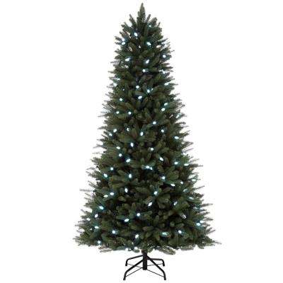 Pre Lit Rotating Christmas Tree.7 5 Ft Pre Lit Led Hapeville Wi Fi Artificial Christmas Tree With 196 C6 Lights