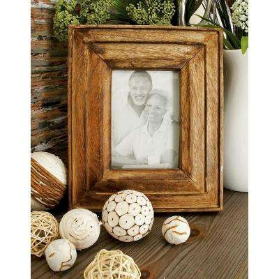 Oak Brown and Whitewash Multi-Beveled Picture Frame (Set of 2)