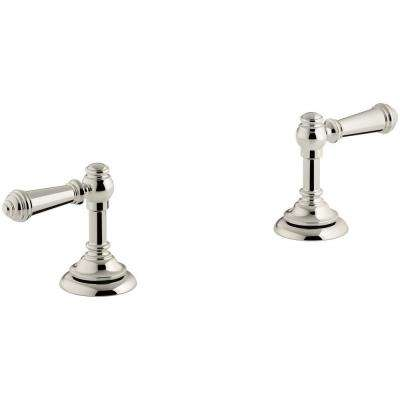 Artifacts Bathroom Sink Lever Handles in Vibrant Polished Nickel