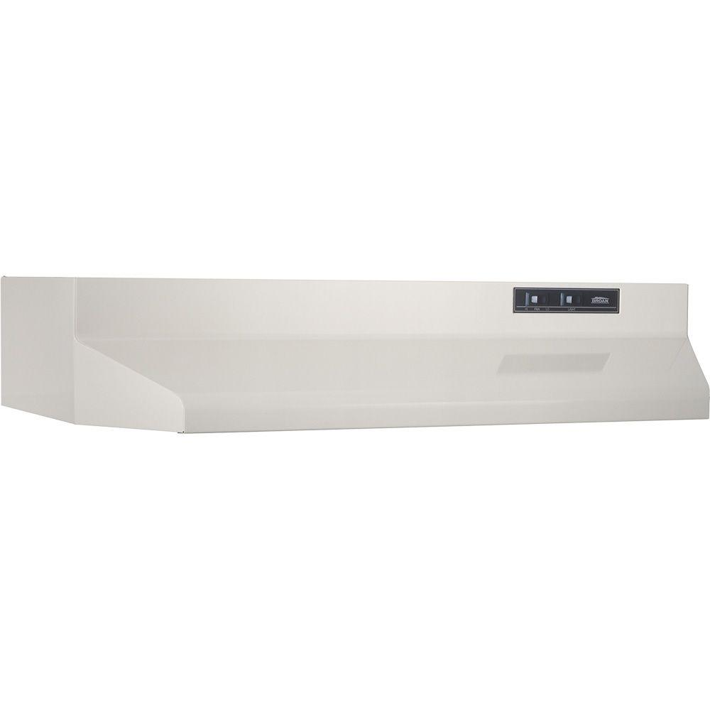 Broan Nutone 42000 Series 30 In Under Cabinet Range Hood With Light In Bisque 423002 The Home Depot