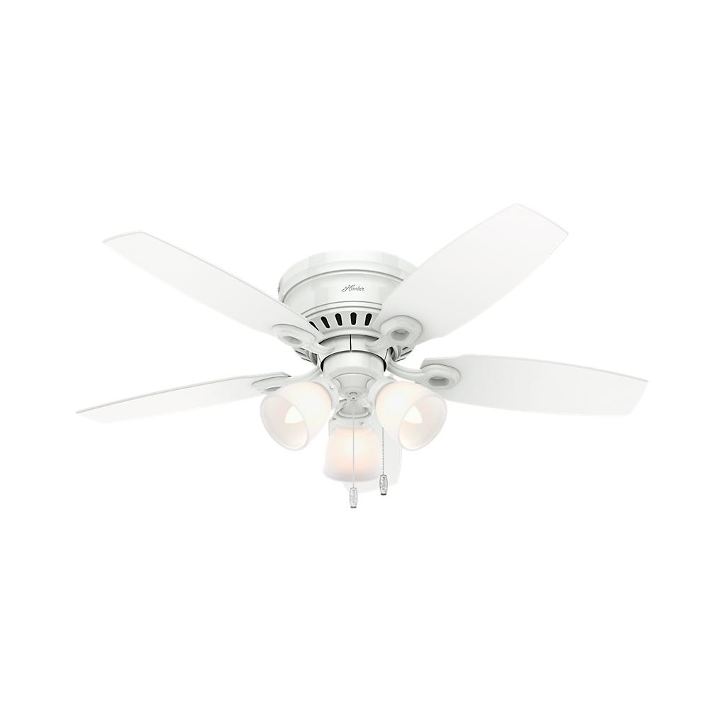 Hunter White Fan Part - 39: Hunter Hatherton 46 In. Indoor White Ceiling Fan With Light Kit