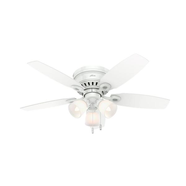 Hatherton 46 in. Indoor White Ceiling Fan with Light Kit