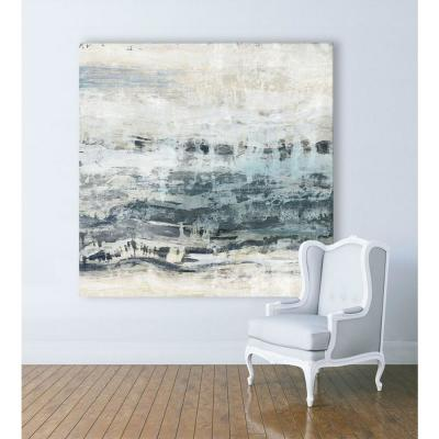 "54 in. x 54 in. ""Black Waves"" by PI Studio Wall Art"