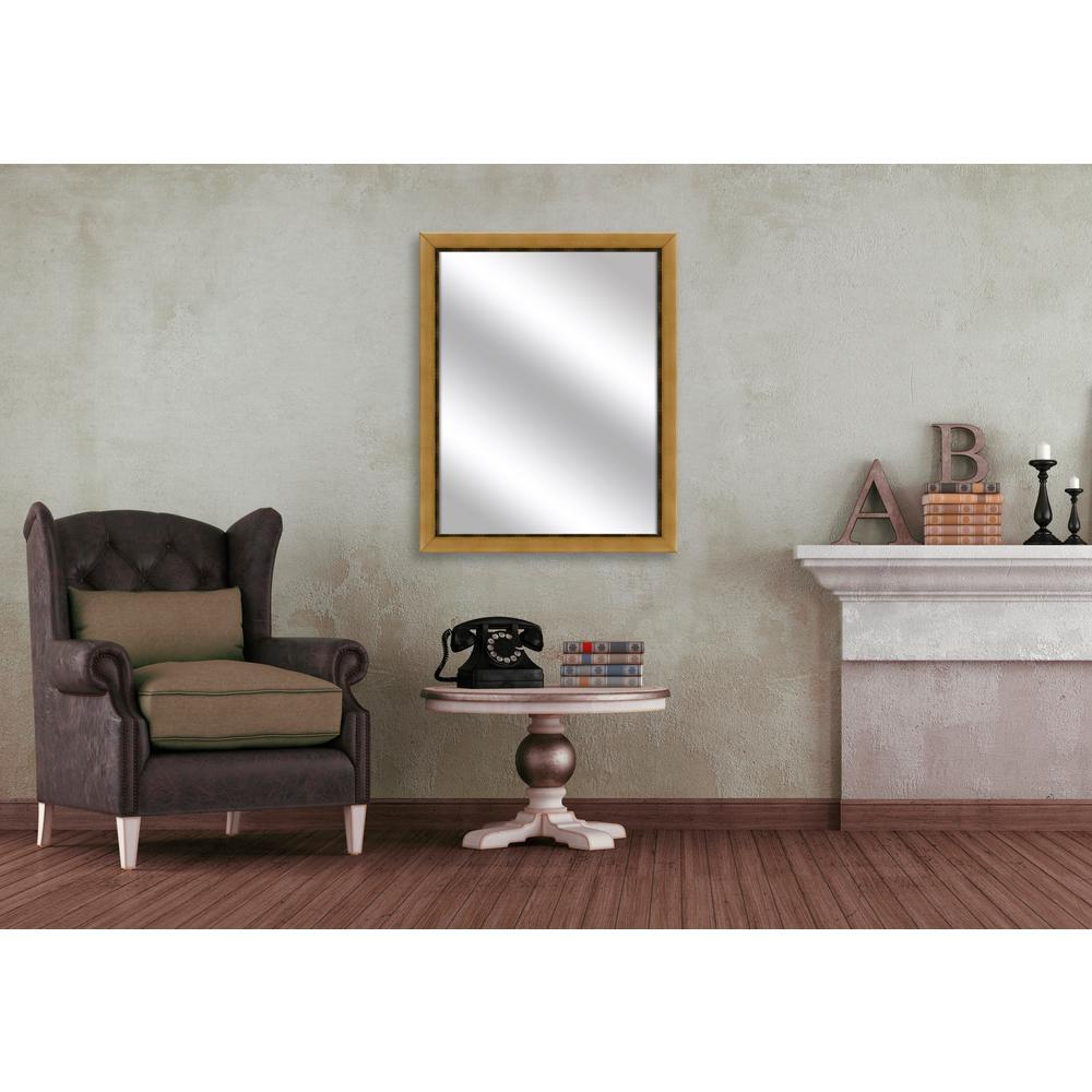 31 in. x 25 in. Antique Gold Framed Mirror