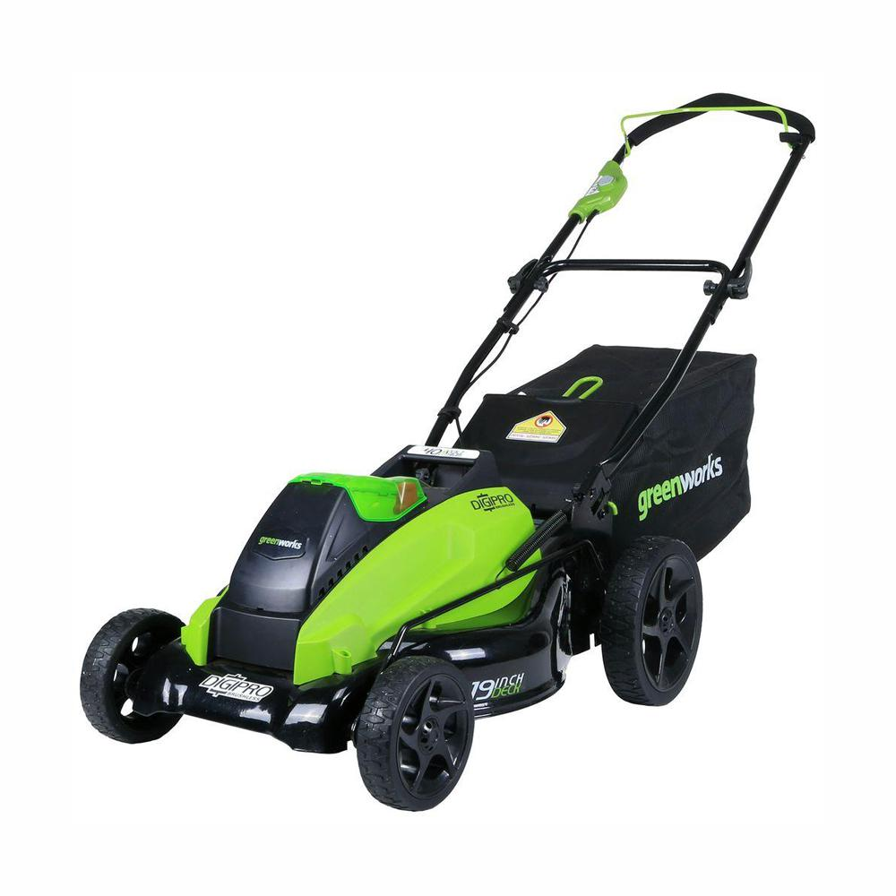 Greenworks Digi-Pro GMAX 19 in. 40-Volt Brushless Cordless Battery Walk Behind Push Lawn Mower - Battery/Charger Not Included