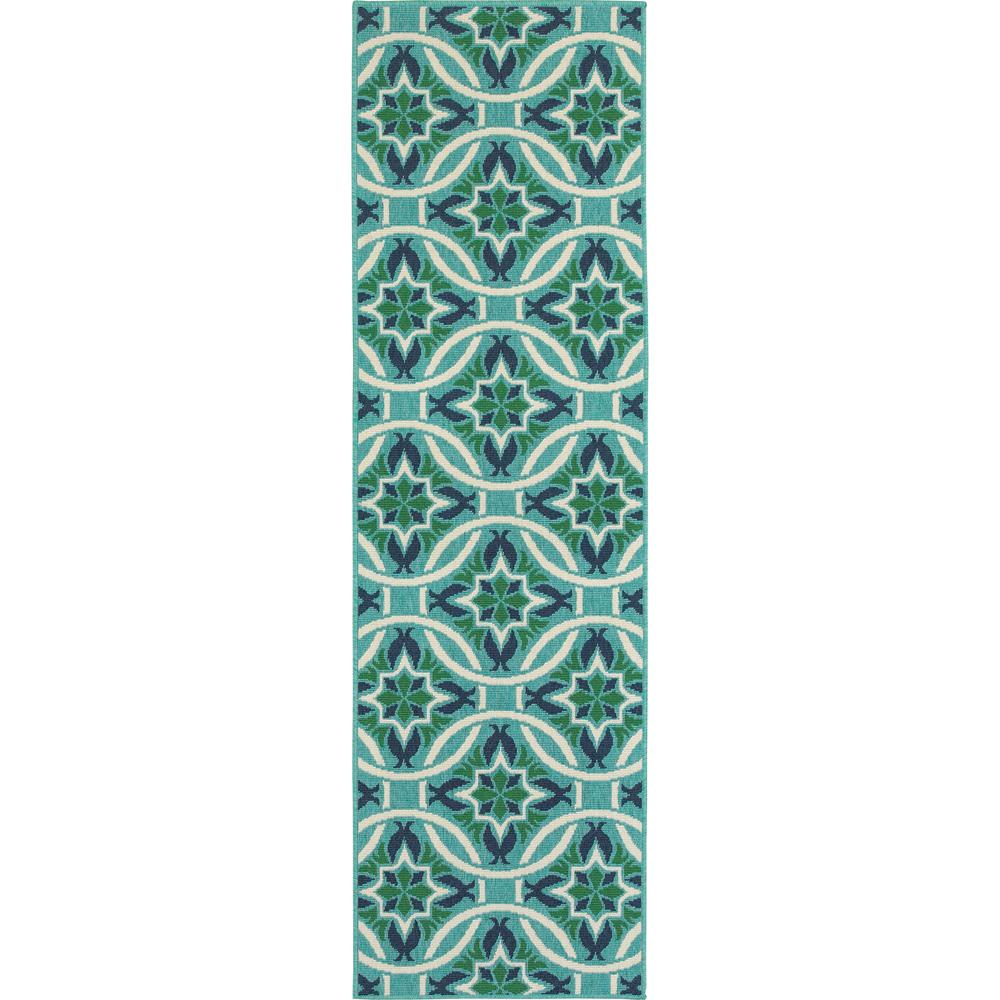 Home decorators collection gallery aqua 2 ft 3 in x 7 ft Home depot decor