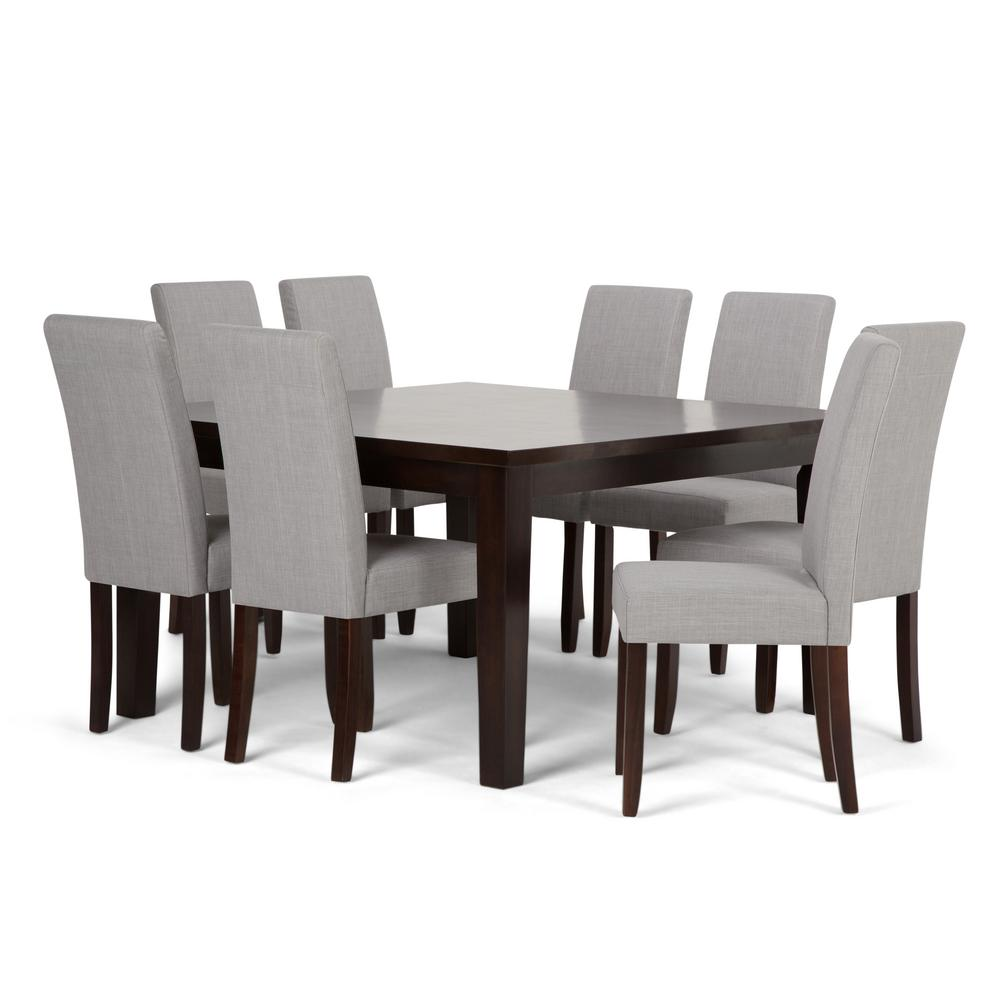 Delicieux Simpli Home Acadian 9 Piece Dove Grey Dining Set