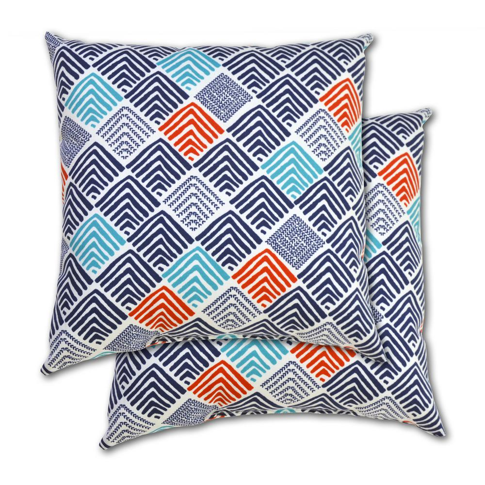 Belk Nautical Square Outdoor Throw Pillow (2-Pack)
