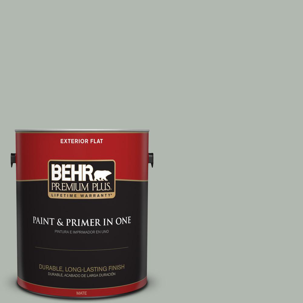 1 gal. #PPU12-14 Verdigris Flat Exterior Paint