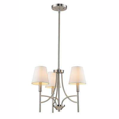 Taylor Collection 3-Light Pewter Mini Chandelier
