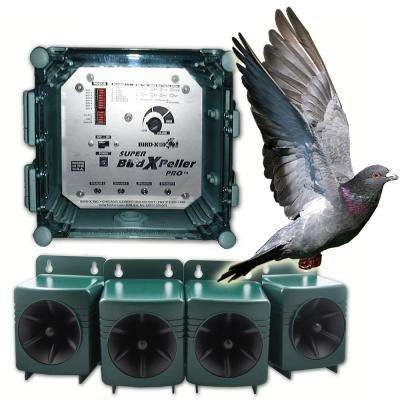 Super Bird X Peller PRO Electronic Bird Repeller 6 Acres Repel Pigeons, Starlings, Sparrows, Seagulls and Woodpeckers