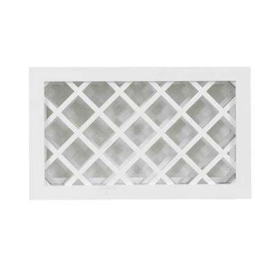Shaker Ready to Assemble 36 in. W x 15 in. H x 12 in. D Wall Wine Rack in White