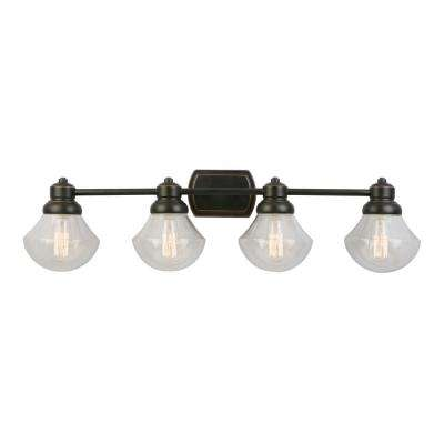 Sawyer 4-Light Oil Rubbed Bronze Bath Light